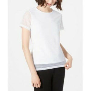 Calvin Klein Womens Short-Sleeve Career Top